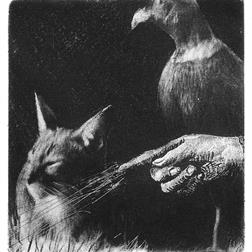 Cat with Pheasant